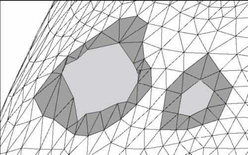 Αναγνώριση ασυνεχειών σε τριγωνικό πλέγμα
